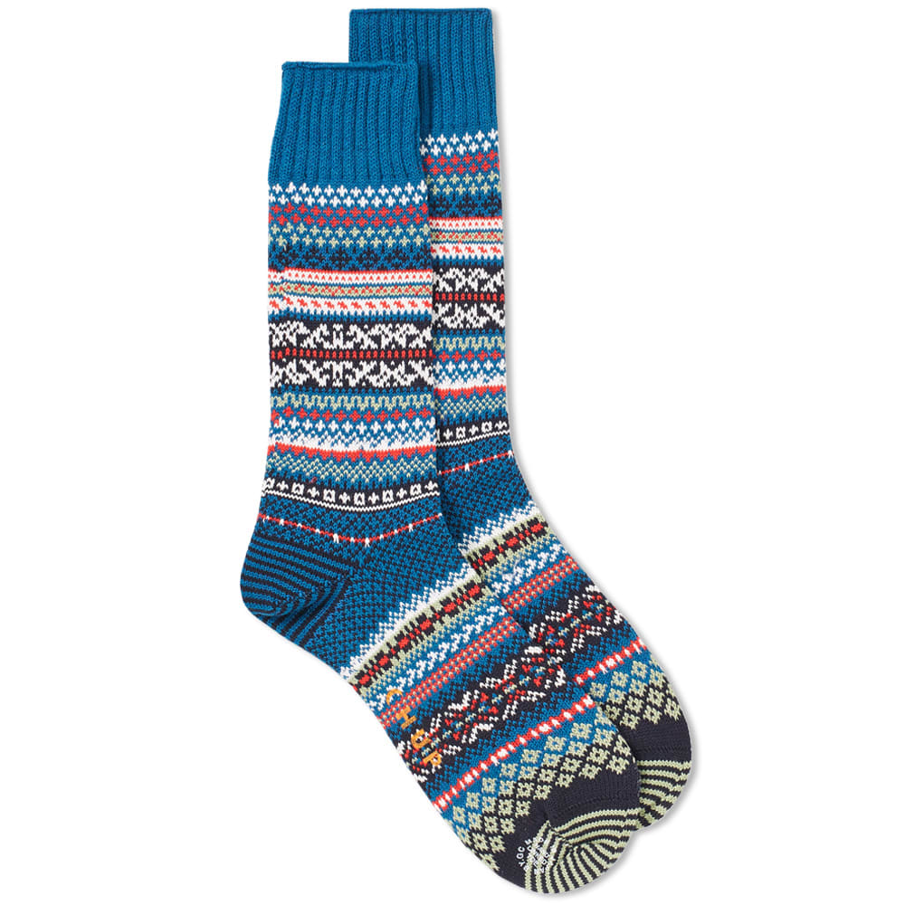 CHUP BY GLEN CLYDE COMPANY | Chup Suomi Sock Deep Blue | Goxip