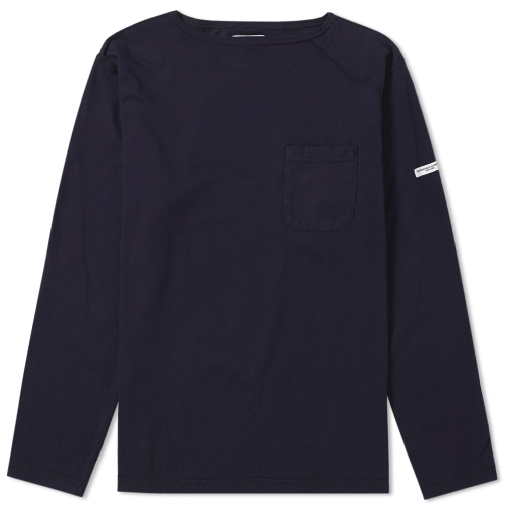 ENGINEERED GARMENTS LONG SLEEVE BASK POCKET TEE