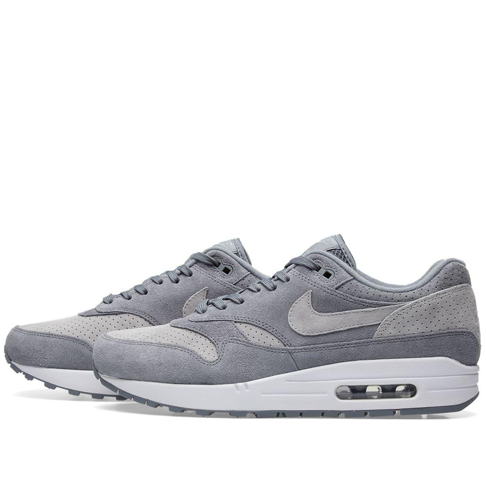 brand new 292dd c5d00 Nike Air Max 1 Premium Cool Grey, Wolf   White   END.