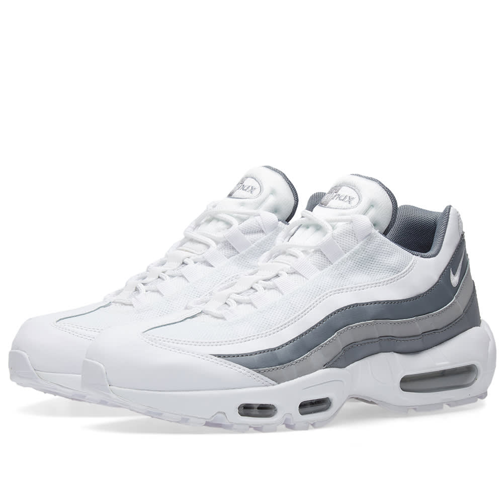 online retailer 2f8f0 82279 Nike Air Max 95 Essential White, Cool Grey   Wolf Grey   END.