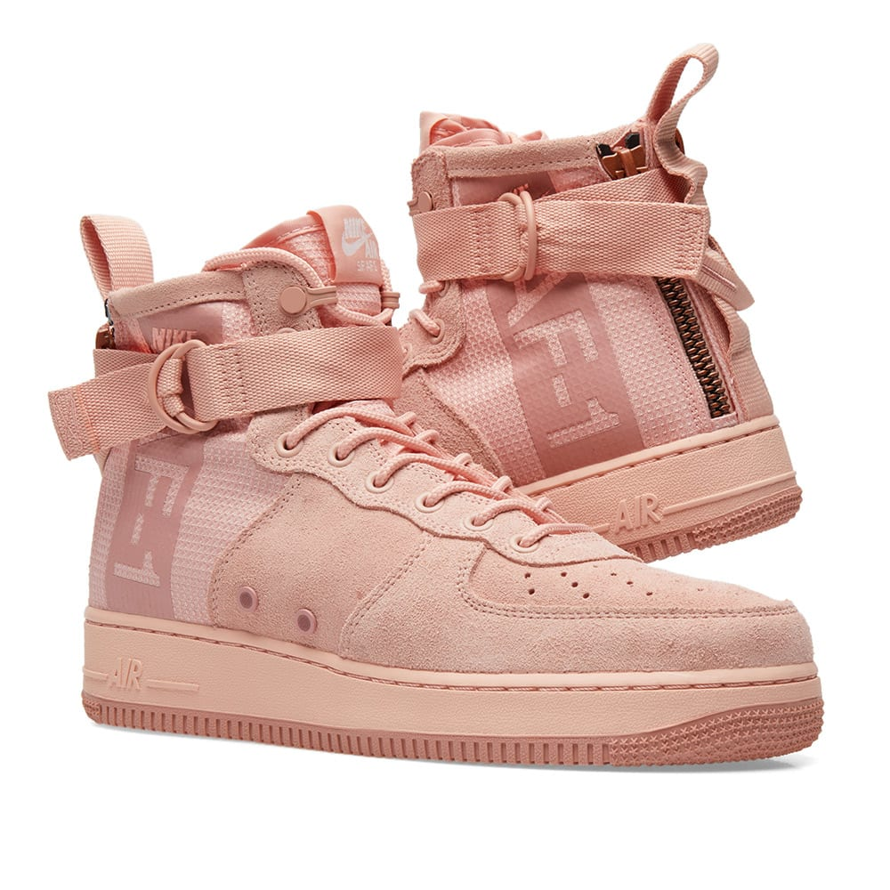 the best attitude 1edeb af277 Nike SF Air Force 1 Mid Suede. Coral   Red Stardust
