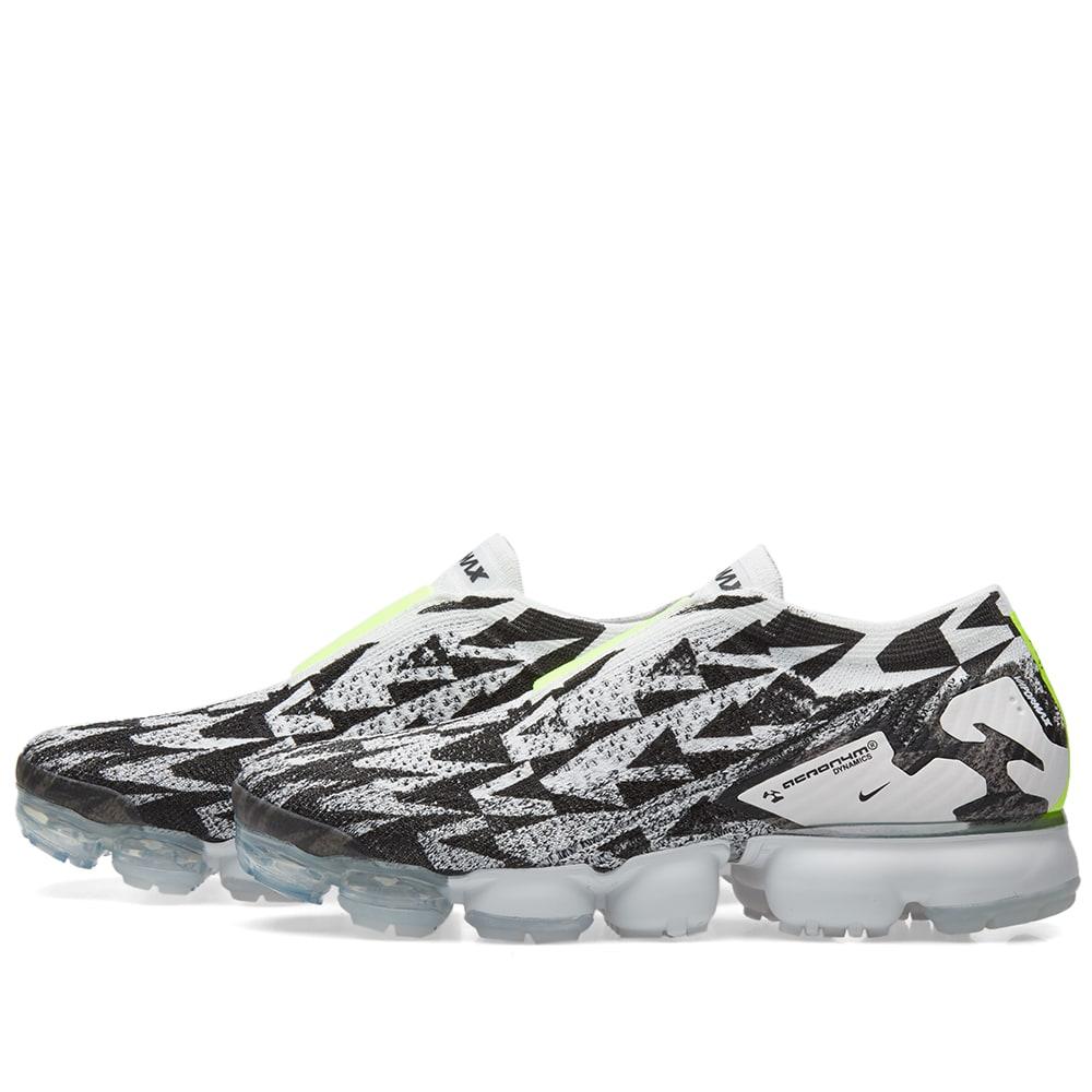 b84f23199be Nike x Acronym Air Vapormax Flyknit Moc 2 Light Bone   Volt