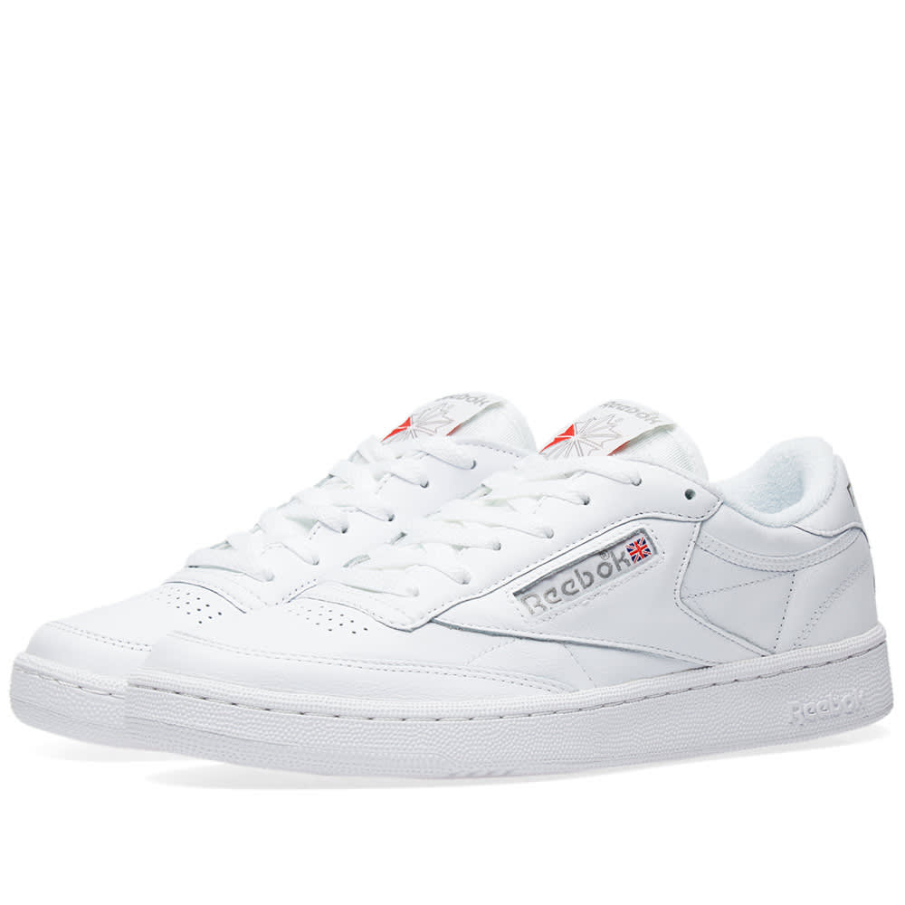 striscia luogo comune Intrattenere  Reebok Club C 85 Archive Pack White, Carbon & Red | END.