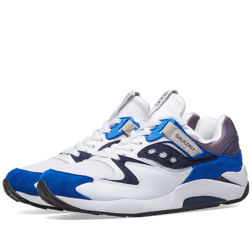 promo code 1b761 5135d Saucony Grid 9000 White   Blue   END.