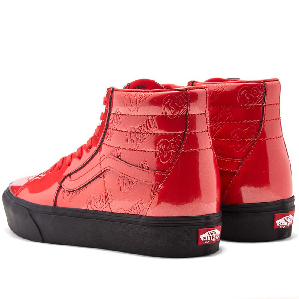 David Bowie x Vans SK8 HI Black Red