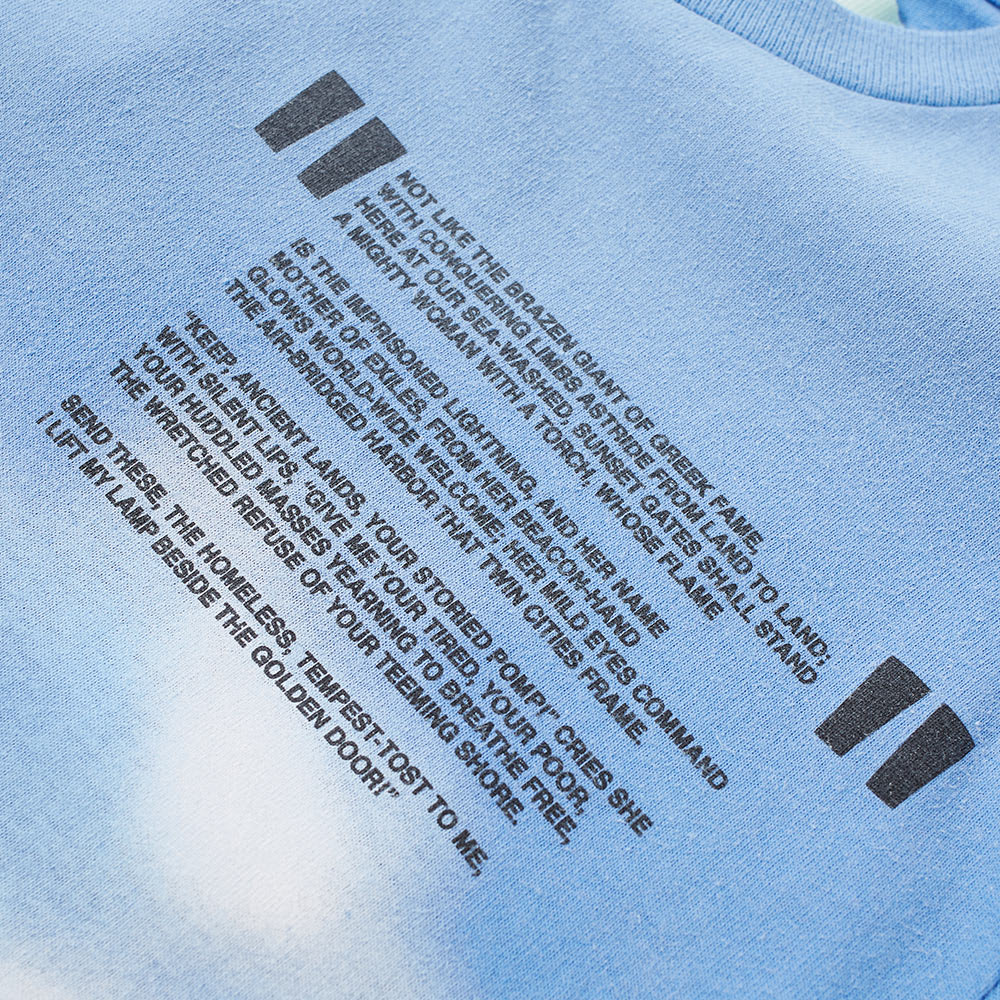 ee2871c0b124 Off-White Long Sleeve Liberty Tee Light Blue   Black