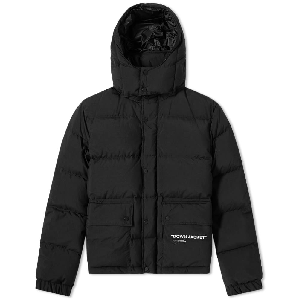 e26e5c09d8884 Off-White Quotes Puffer Jacket Black & White | END.