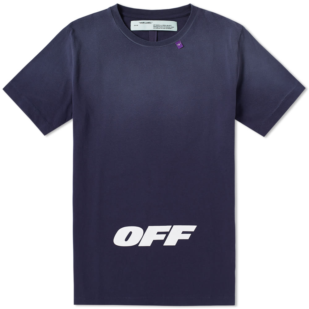 OFF-WHITE Wing Off Short-Sleeve Cotton Slim Tee, Blue