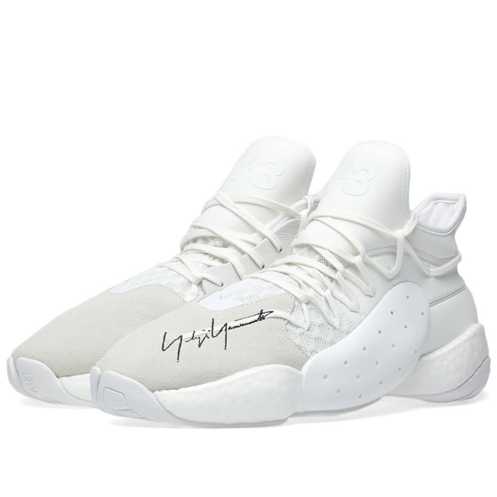 b057153ae7698 Y-3 White James Harden Boost Sneakers