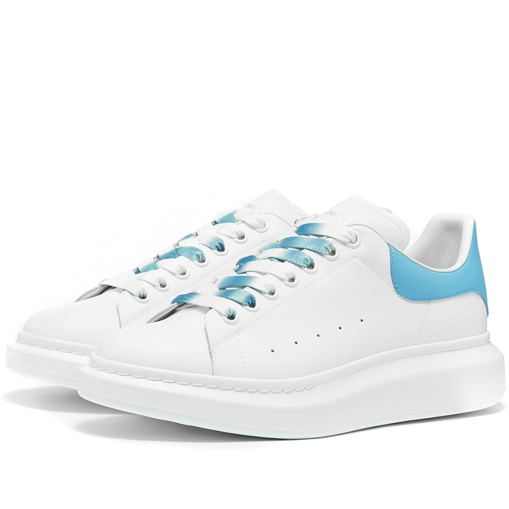 Alexander Mcqueen Degrade Wedge Sole Sneaker In White