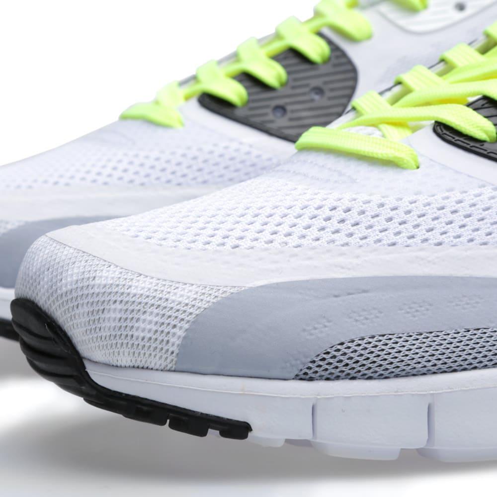 Nike Air Max 90 Breathe White, Black & Metallic Silver | END.