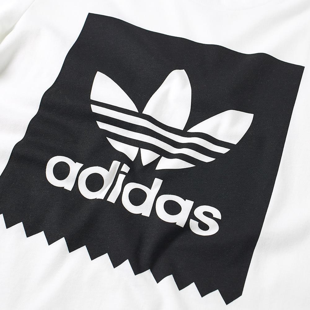 adidas solid logo tee white amp black