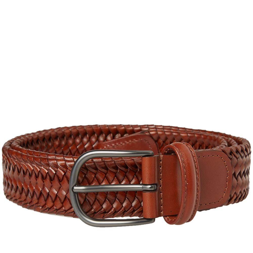 ANDERSONS ANDERSON'S STRETCH WOVEN LEATHER BELT