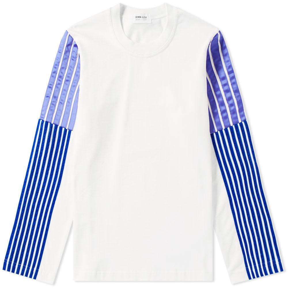 DIMA LEU Dima Leu Striped Sleeves Sweatshirt - White