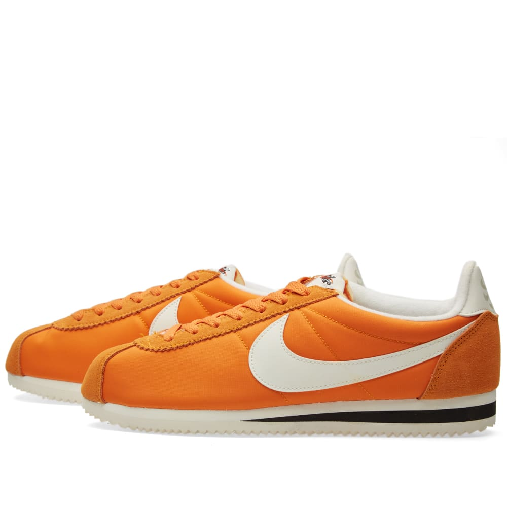 purchase cheap bc281 a847b Nike Classic Cortez Nylon AW Clay Orange, Sail   Black   END.