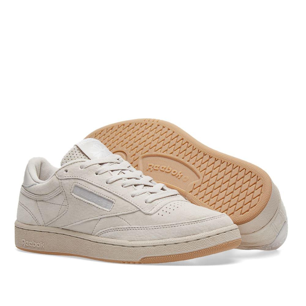 781203c2f75 Reebok Club C 85 SG Sand Stone   White Gum