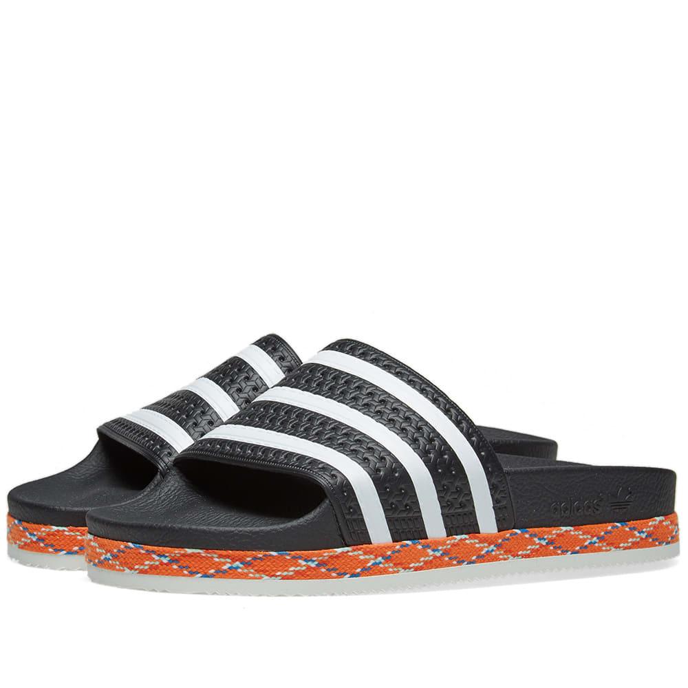 1cbb631f8e1ddd Adidas Originals Adidas Adilette New Bold Slides - Black