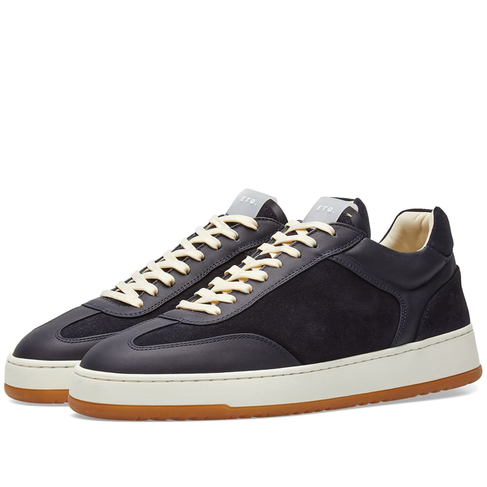 ETQ. Panelled Low Top Sneakers in Blue
