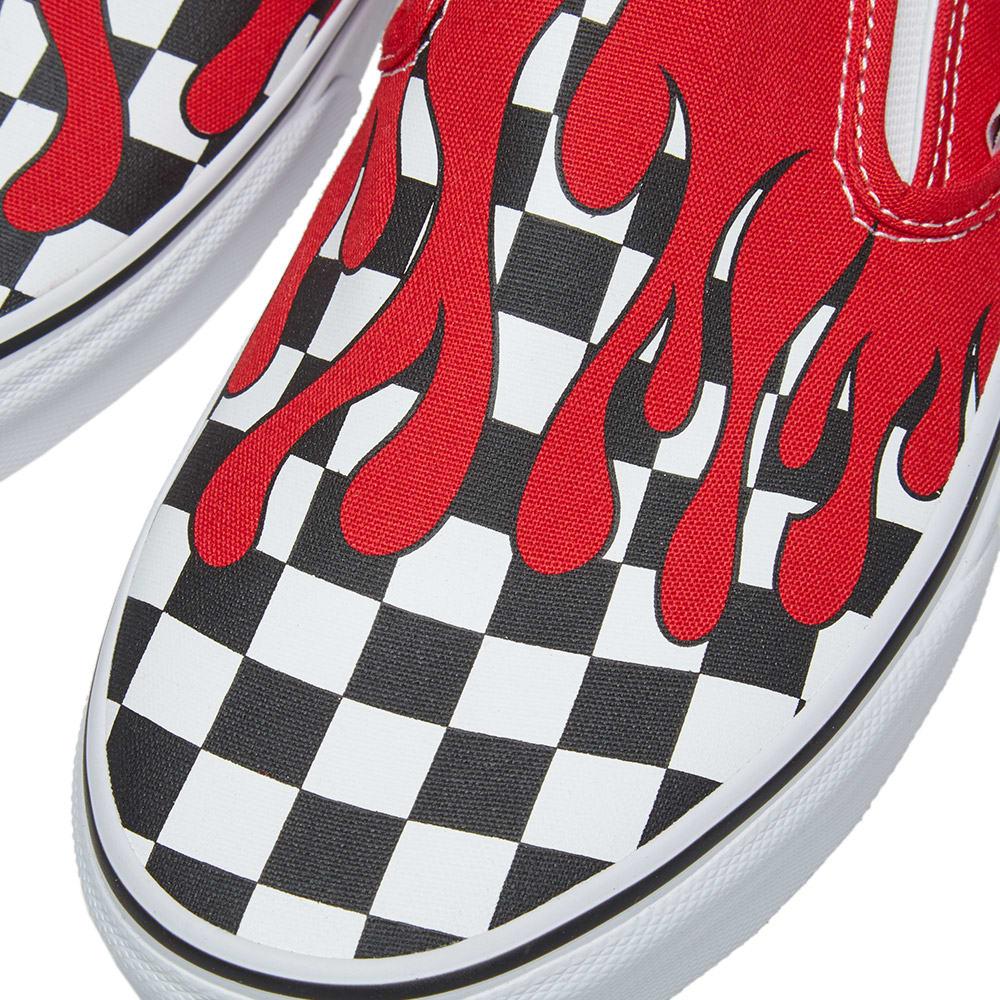 4c5b20b8 Vans Classic Slip On Checker Flame