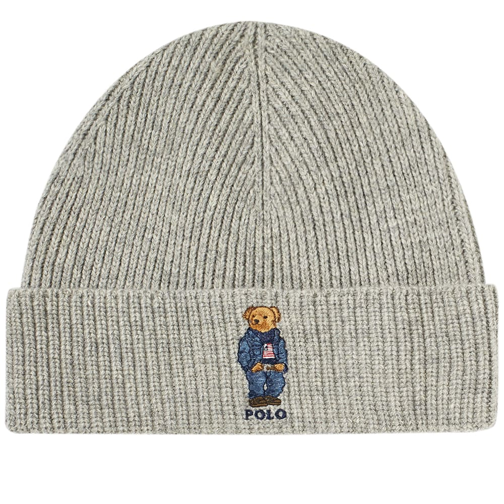 615f614ff60 Polo Ralph Lauren Classic Bear Glove   Hat Gift Box Grey Heather