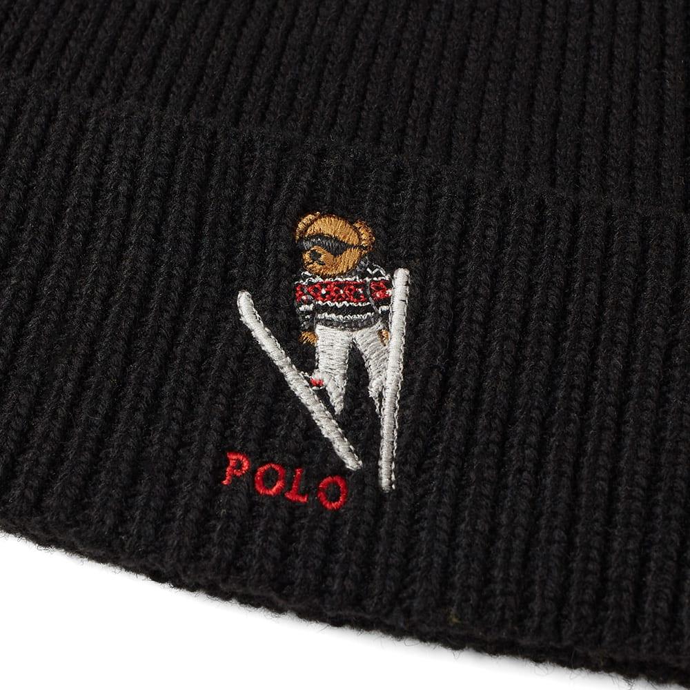 5bef983ff62d2 Polo Ralph Lauren Ski Bear Beanie Black