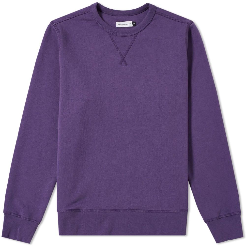 Pop Trading Company Logo Crew Sweat in Purple