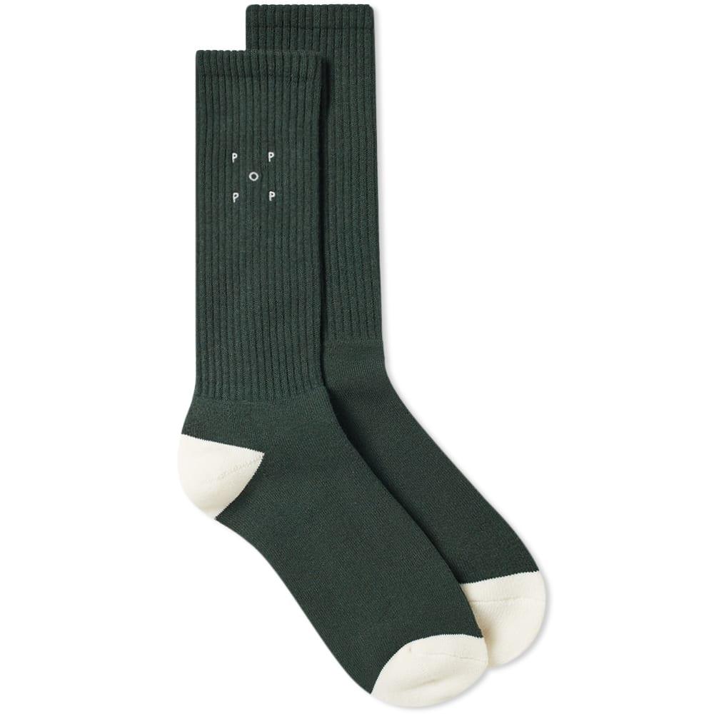 Pop Trading Company Logo Sock in Green