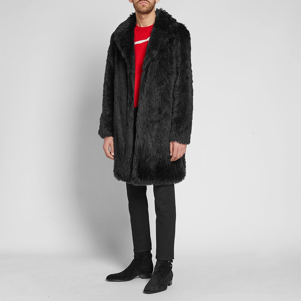 0a26d5b050c Saint Laurent Raglan Faux Fur Coat Black | END.