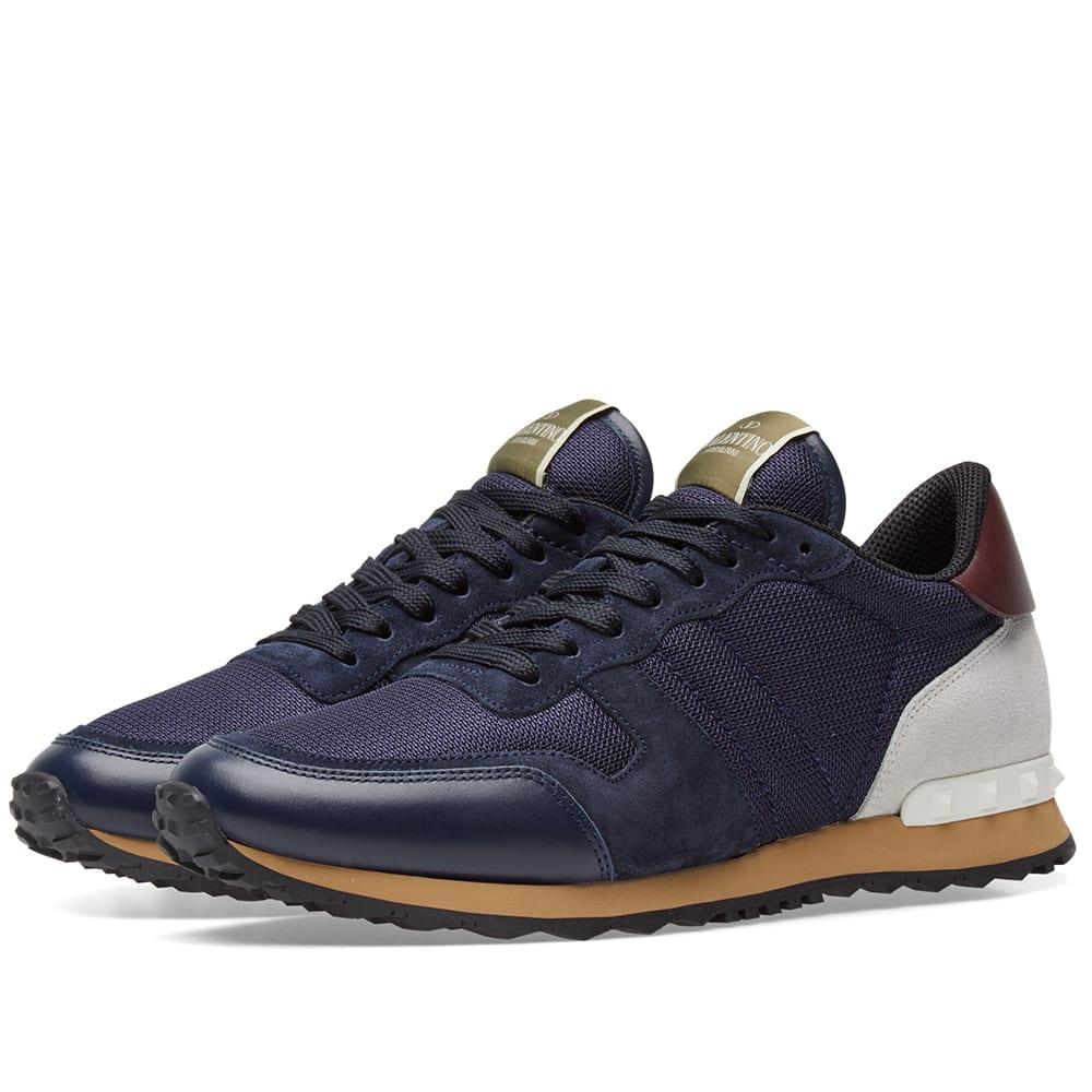 be01cd08ab428 Valentino Rockrunner Sneaker Night, Marine & Off White Mesh   END.