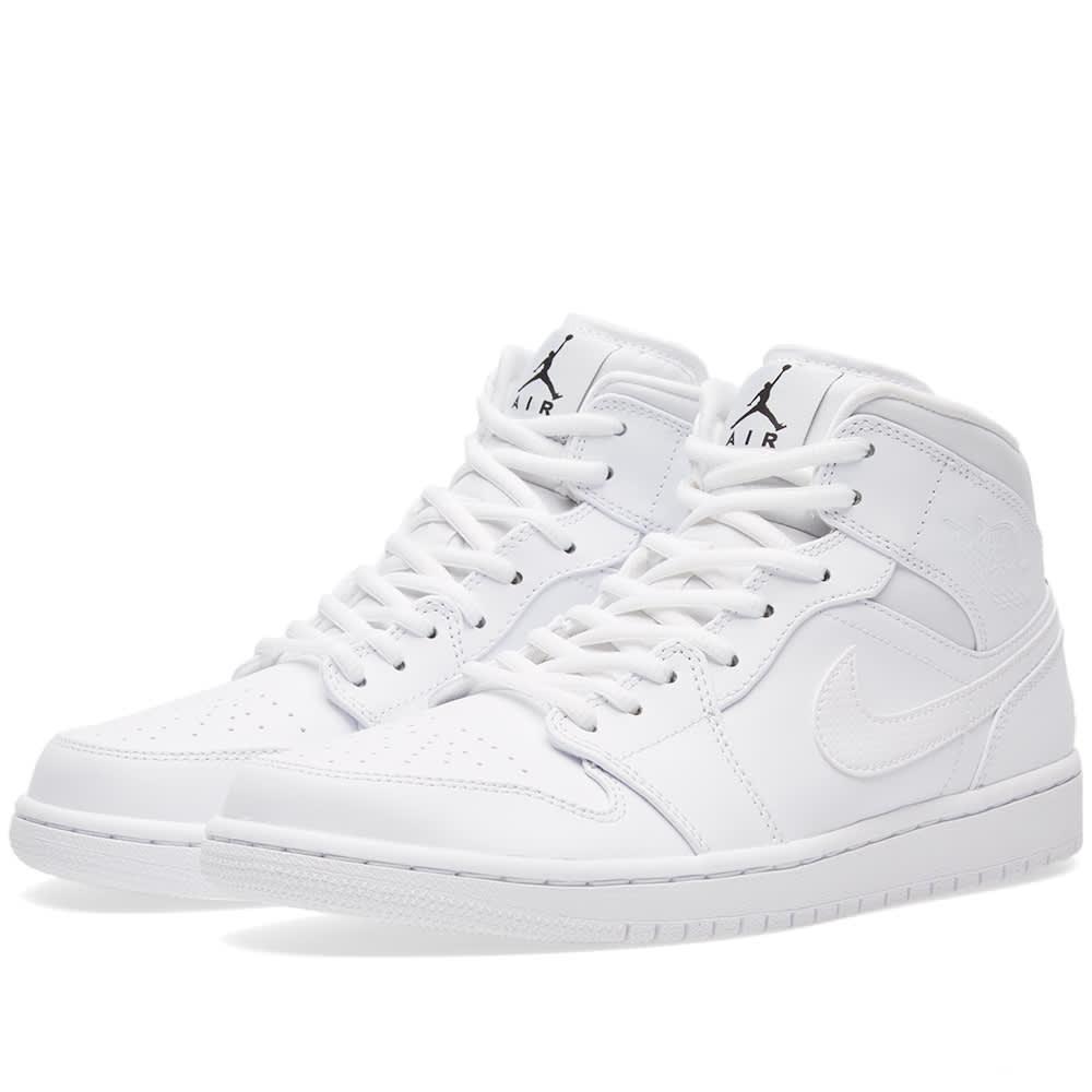 buy popular 8d03f 81a22 Nike Air Jordan 1 Mid White, Black   White   END.