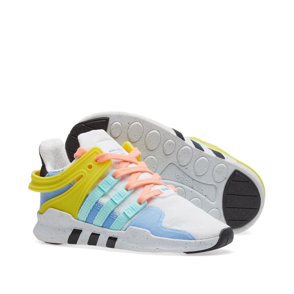 factory authentic 75867 c7a50 Adidas Equiptment Support ADV Mini Rodini Sneakers. White   Core Black