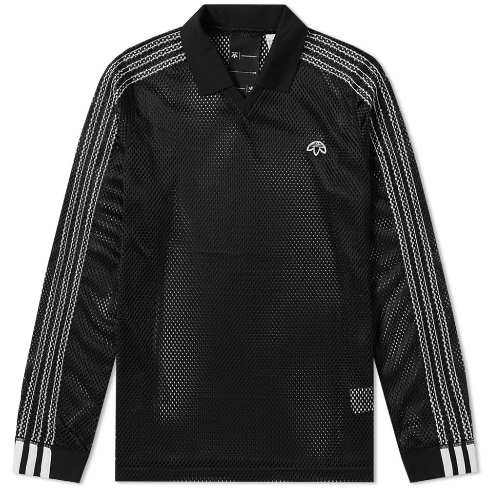 Adidas Originals by Alexander Wang Long Sleeve Mesh Polo