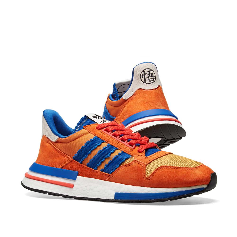 Bienes Puntuación Proponer  Adidas x Dragonball ZX 500 RM 'Son Goku' Orange, Collegiate Royal ...