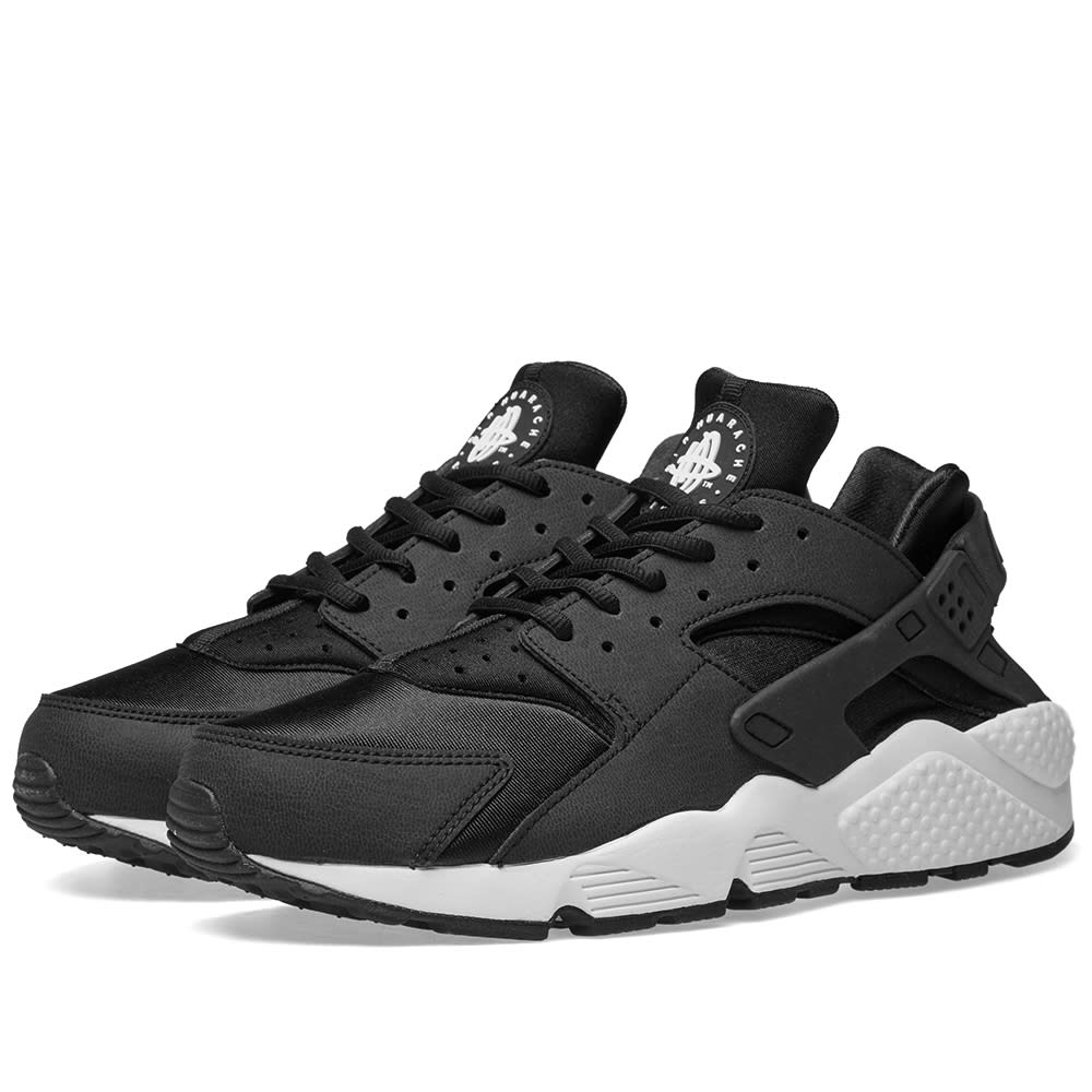 Women's Air Huarache Run Running Sneakers From Finish Line in BlackWhiteBlack