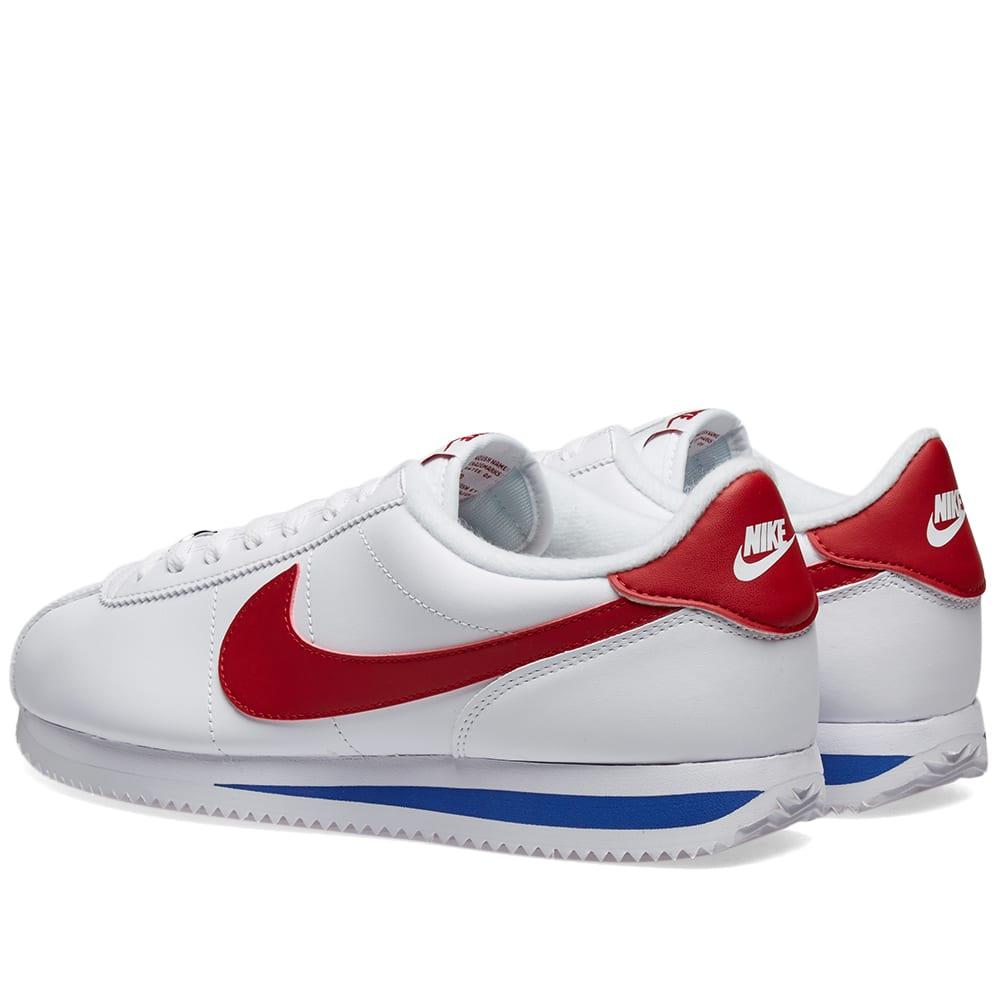 ayudante distrito Escupir  Nike Classic Cortez Leather White, Varsity Red & Royal | END.
