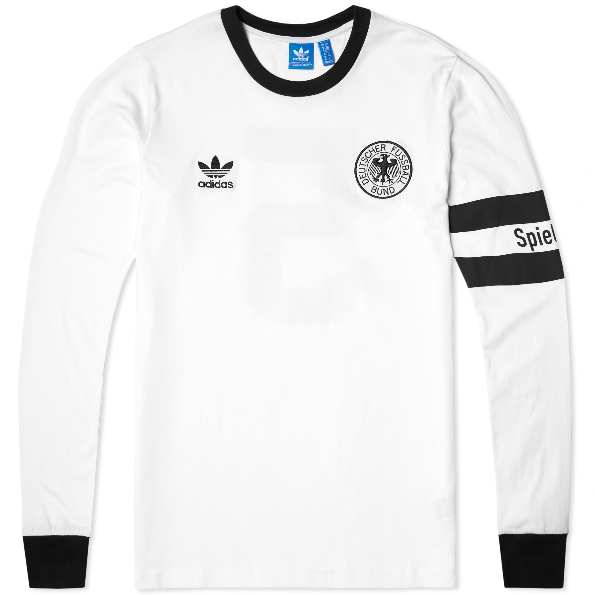 101caa6e6 Adidas Originals Wm 1990 Retro Germany T Shirt Print White – EDGE ...