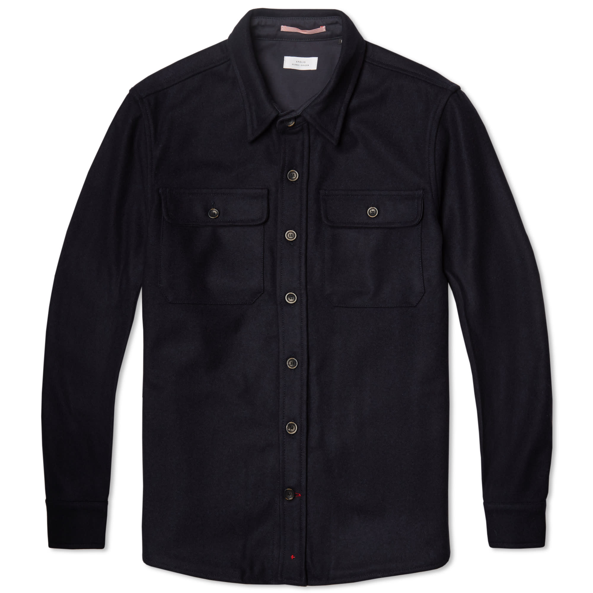 Apolis Wool Cpo Shirt Jacket Navy End