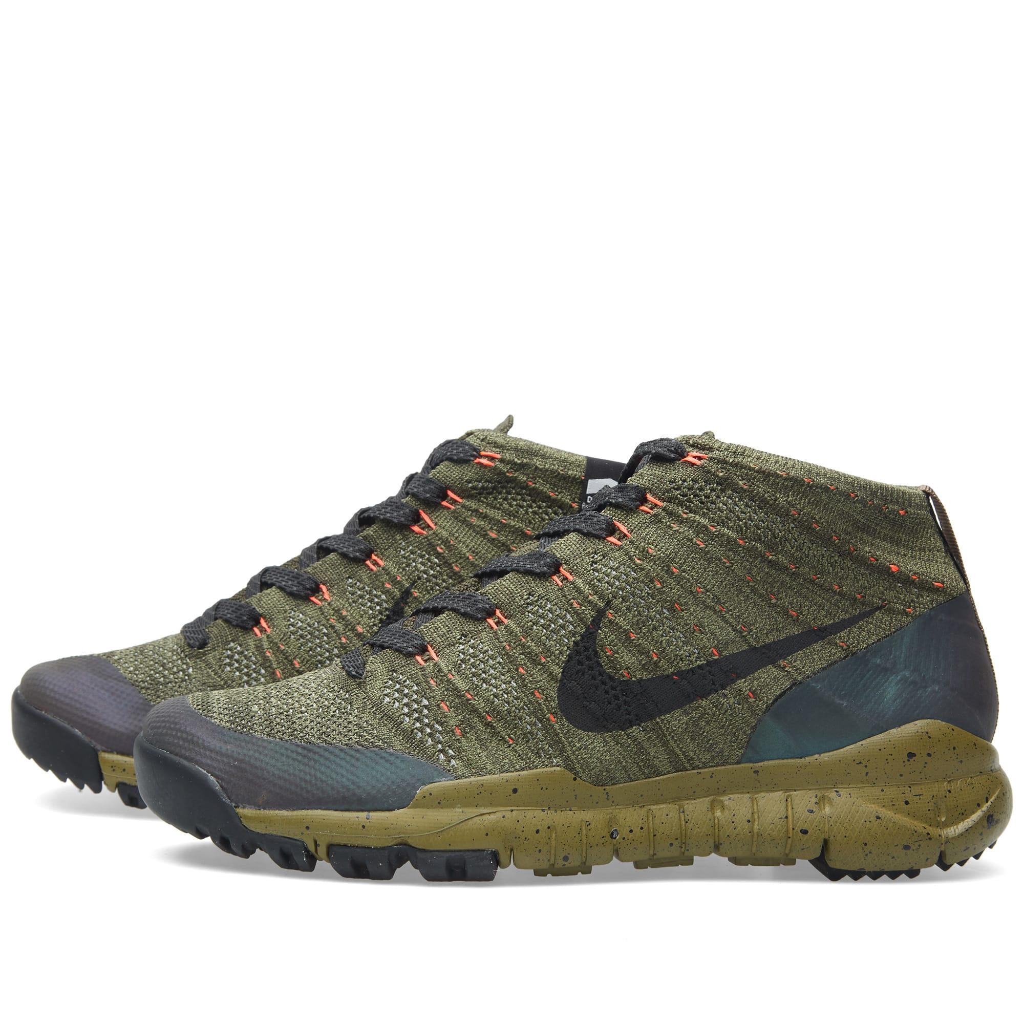 9037dbe7a5117 Nike Flyknit Trainer Chukka FSB Sequoia   Black