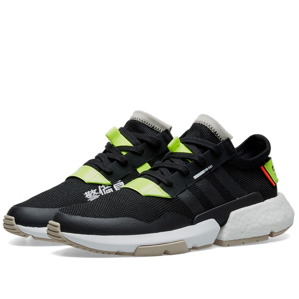 cozy fresh 52707 6583d Adidas Energy POD-S3.1 Core Black, Yellow   White   END.