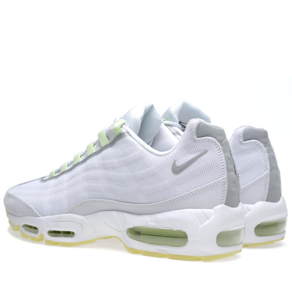 sneakers for cheap 9f81f ead3e Nike Air Max 95 Premium Tape White, Geyser Grey   Lab Green   END.