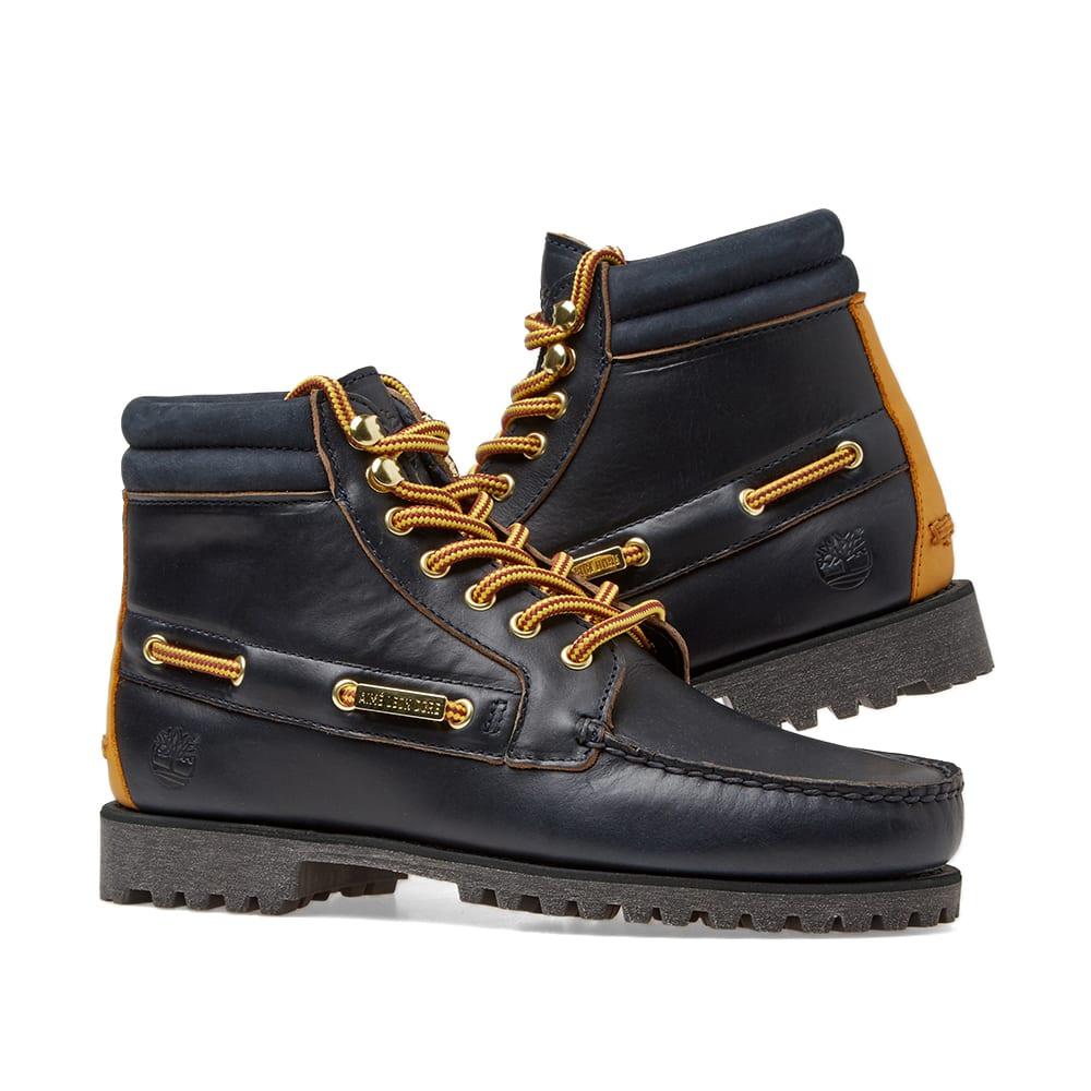 Timberland x Aimé Leon Dore 7 Eye Lug Sole Boot Navy – Kith