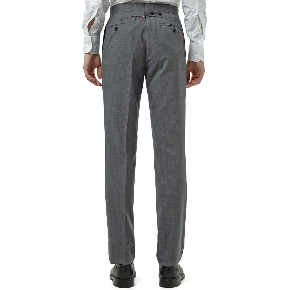 Vintage dark grey wool trousers 1980/'s by Cubevintage medium