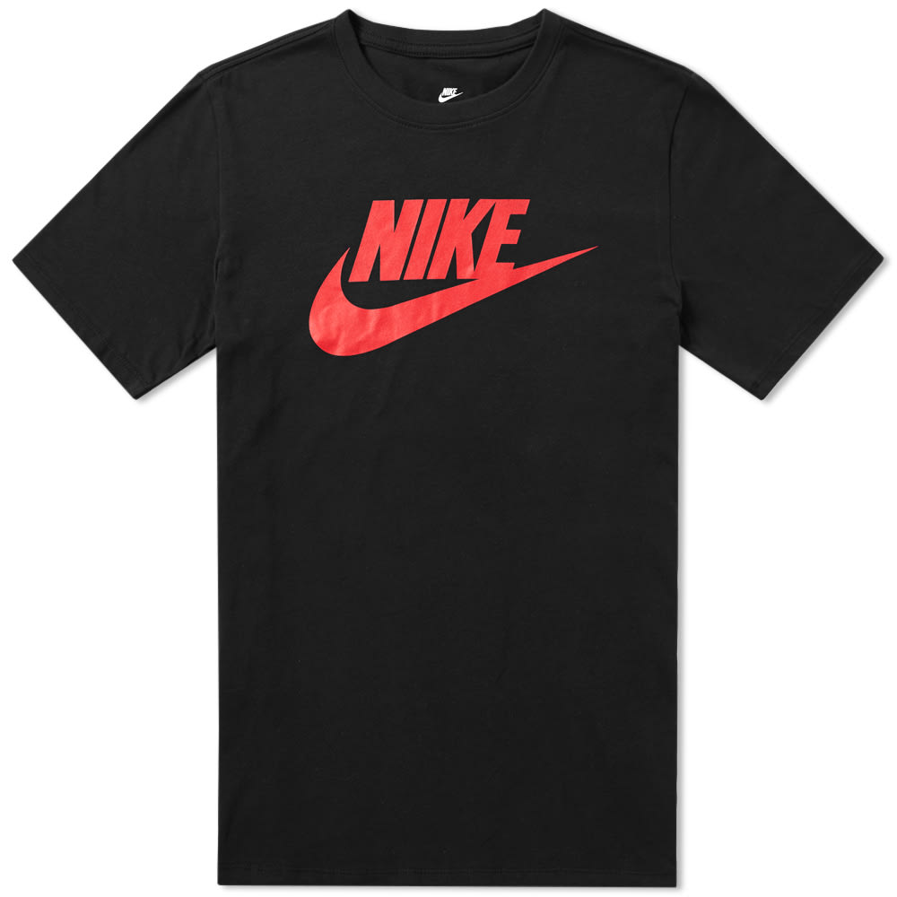 b84feccf Nike Futura Icon Tee Black & University Red | END.