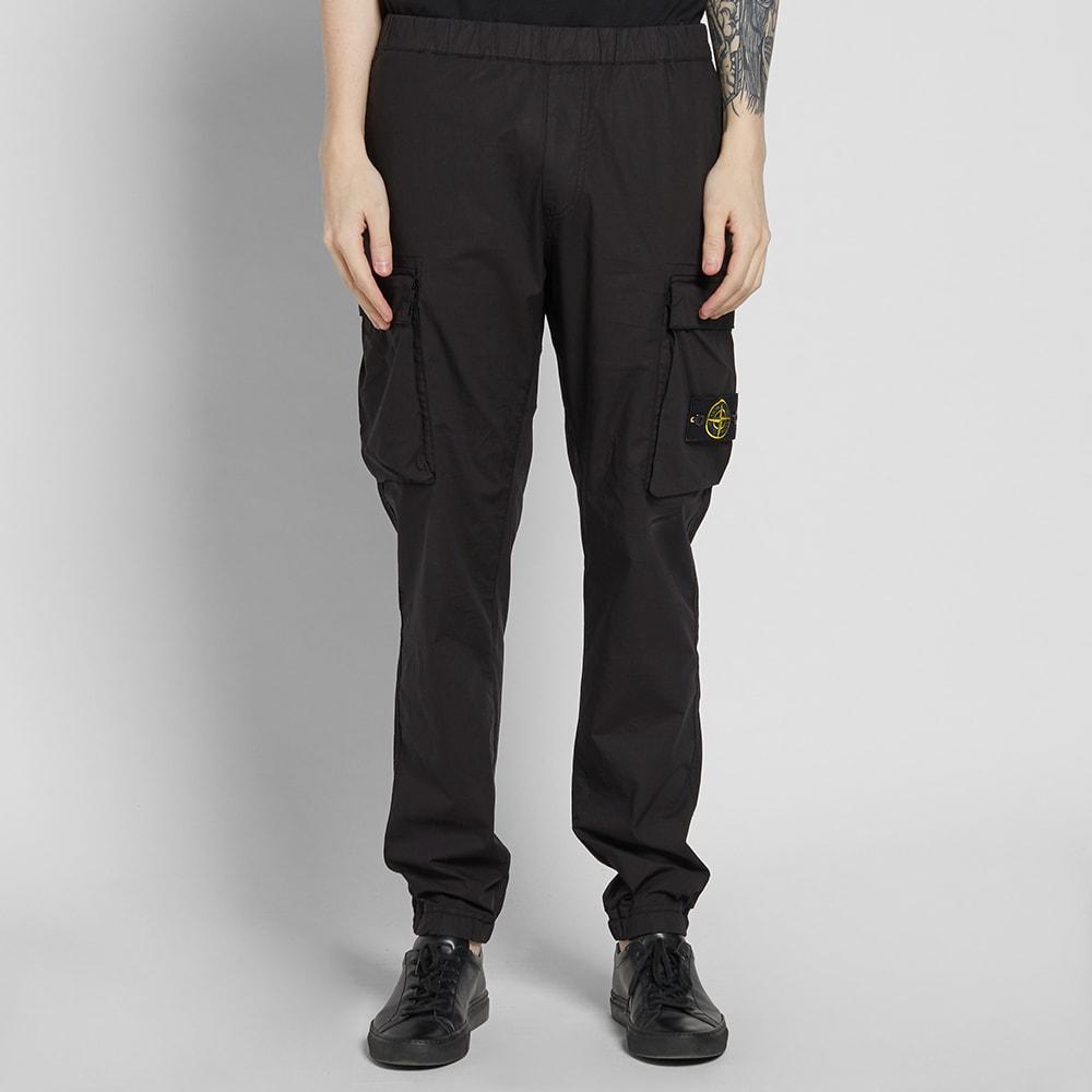 Stone Island Parachute Cotton Cargo Pant Black | END.