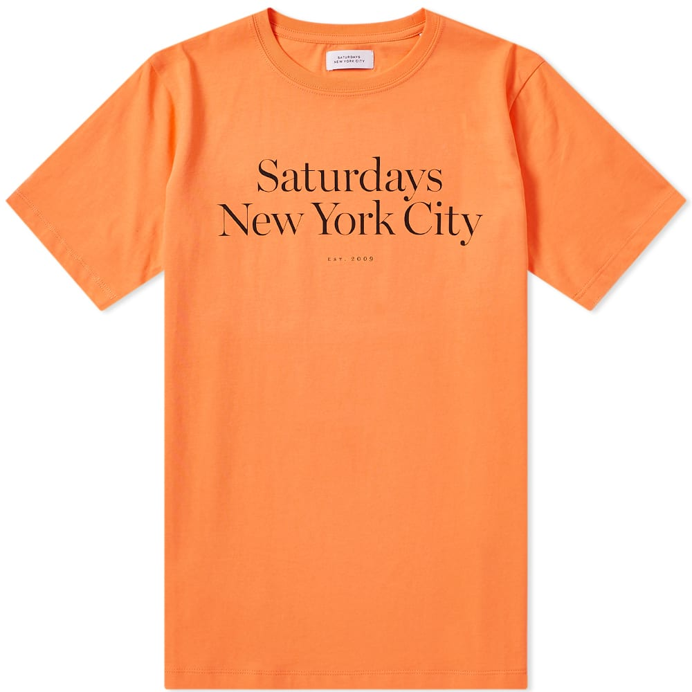 4b9f849d28 Saturdays NYC Miller Standard Tee Peach | END.
