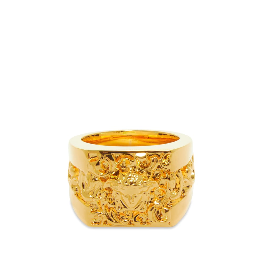 Versace Detailed Medusa Ring W