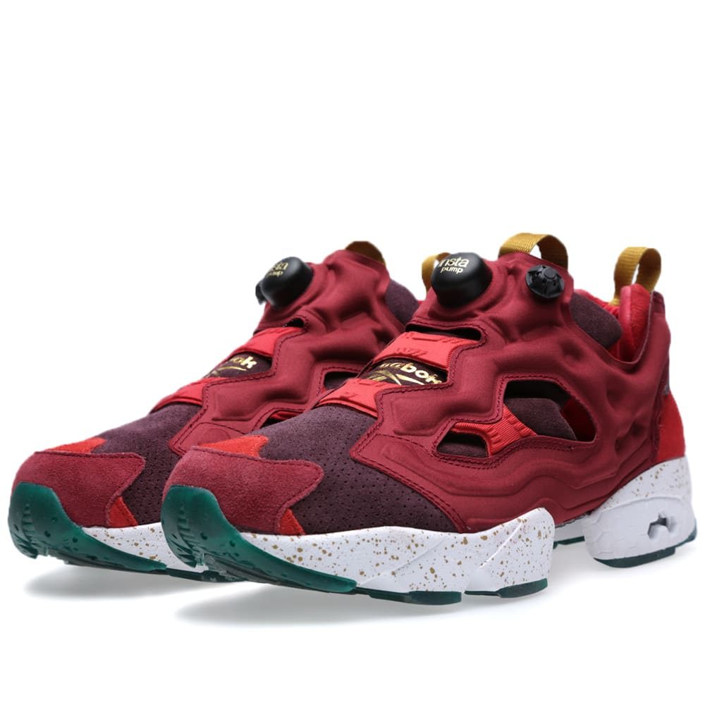 90aa6e6d Reebok x END. Instapump Fury OG 'Claret' Cardinal, Henna, Red & Green | END.