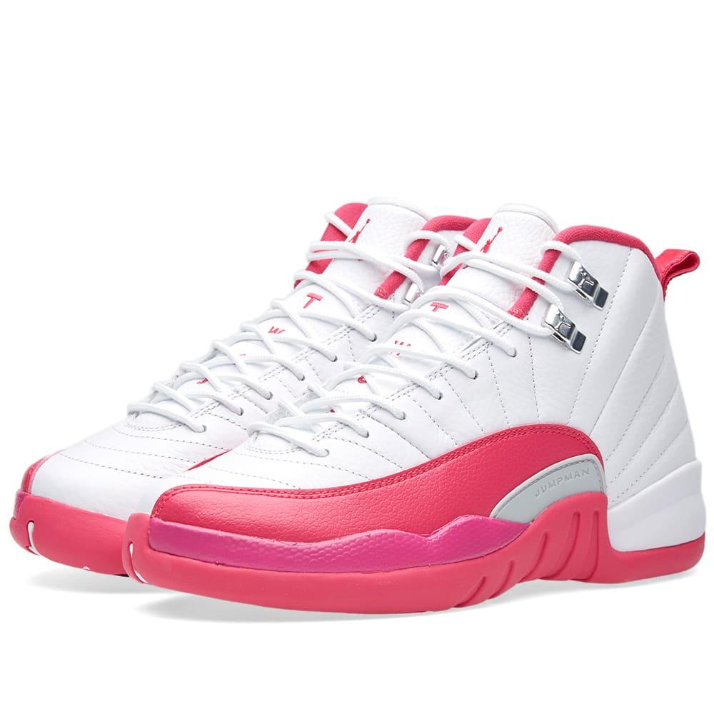 7c000a6bf01b Nike Air Jordan 12 Retro GG White   Vivid Pink