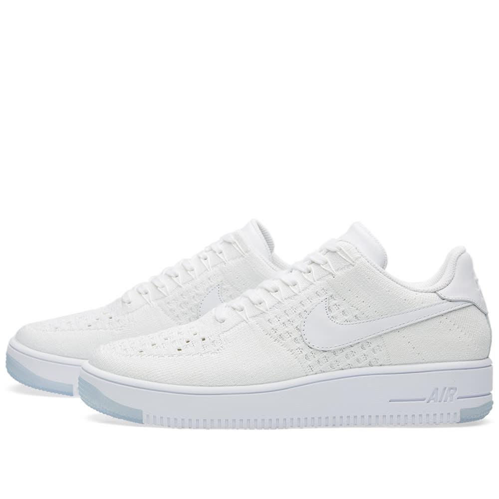 Women's Nike Air Force 1 Flyknit Low 820256 101 Shoe