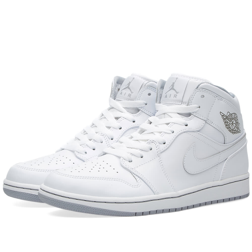 online store 8f5a2 499b5 Nike Air Jordan 1 Mid White   END.